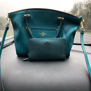 Hardly used coach purse and wallet.